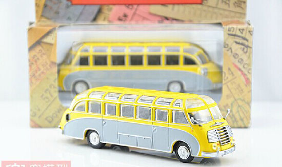 Yellow 1:72 Autobuses Die-Cast ALEMANIA Single-Deck Bus Model