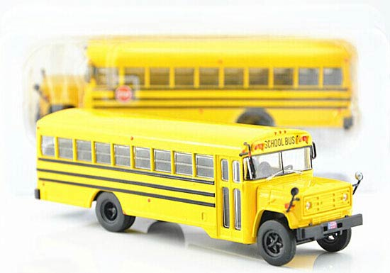 Yellow 1:72 Scale Autobuses Brand Diecast GMC School Bus Model