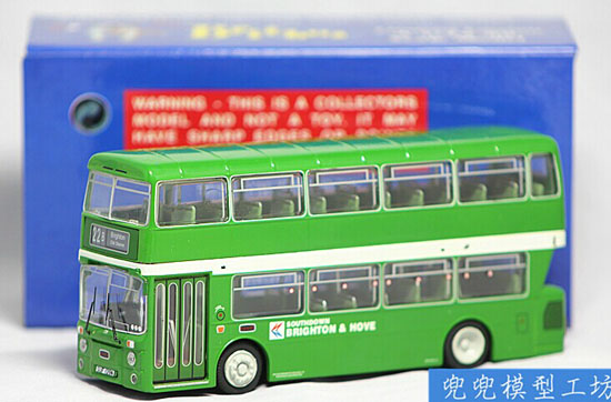 Green 1:76 Britbus Die-Cast Britain Double-Decker Bus Model
