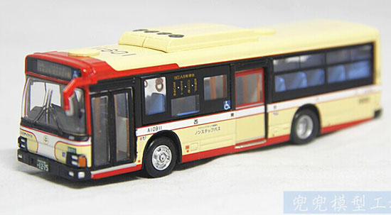 1:80 Scale Creamy White Kyosho Die-Cast Japan Tokyo Bus Model