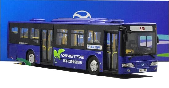 Blue / Silver / Champagne 1:43 Scale Die-Cast Yangtse Bus Model