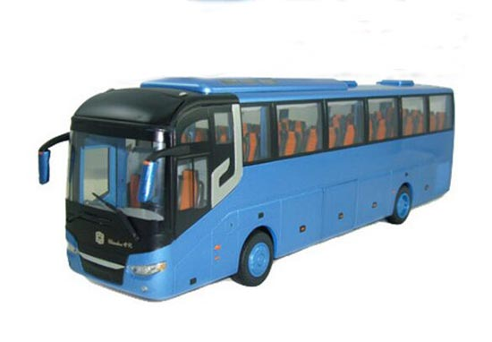 1:43 Scale Blue / Red Die-Cast Zhongtong Tour Bus Model