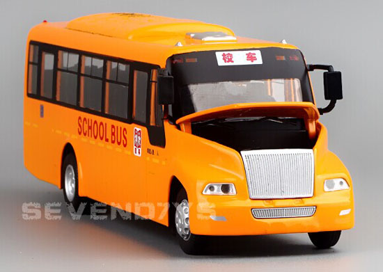 Kids Yellow Pull-Back Function Big Nose Die-Cast School Bus Toy