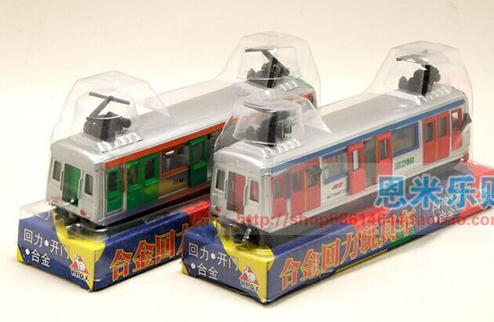 Kids Red / Green Pull-Back Function Die-Cast Hong Kong Tram Toy