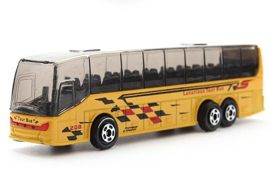 Kids White / Yellow / Blue / Green Die-Cast Airport Tour Bus Toy