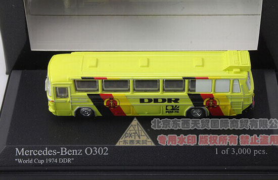 Minichamps Yellow 1:160 Die-Cast 1974 Mercedes-Benz O302 Bus