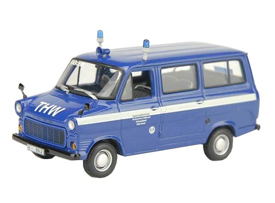 Blue 1:43 Scale Minichamps Diecast 1971 Ford Bus Model