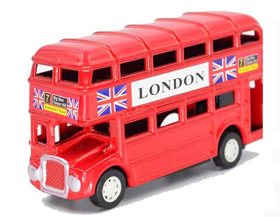 Red Mini Scale Red Pencil Sharpener London Double Decker Bus Toy