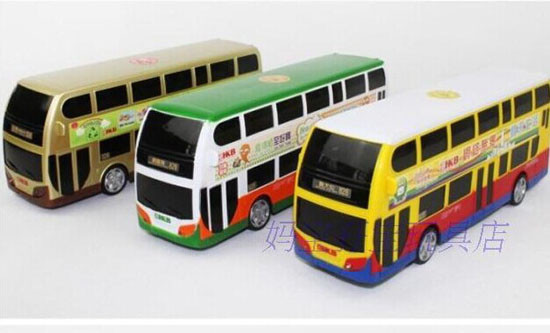 Kids Yellow / Green / Golden R/C Hong Kong Double Decker Bus Toy