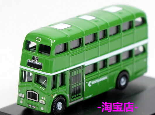 Green Mini Scale Oxford Southdown Queen Mary Double-Deck Bus