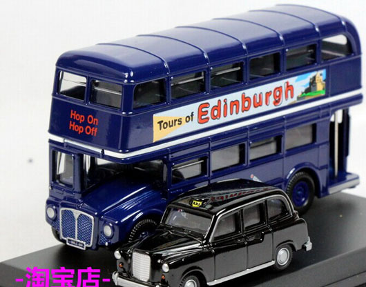 1:76 Scale Oxford Die-Cast Scotland Bus Taxi Gift Set Model