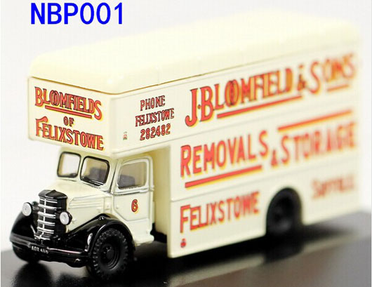 White Mini Scale Oxford Die-Cast Bedford Pantechnicon Van Model