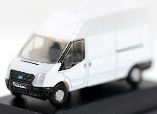 White Mini Oxford Die-Cast White Transit LWB High Van Model