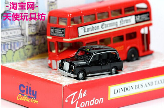 71e9ef6b6 1:76 Oxford Die-Cast London Double Decker Bus And Taxi Gift Set ...