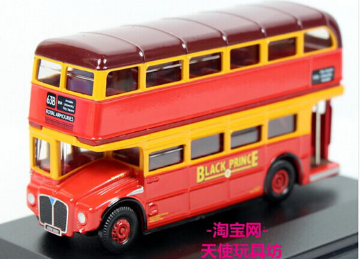 Red 1:76 Scale Oxford Britain Die-Cast Double Decker Bus Model