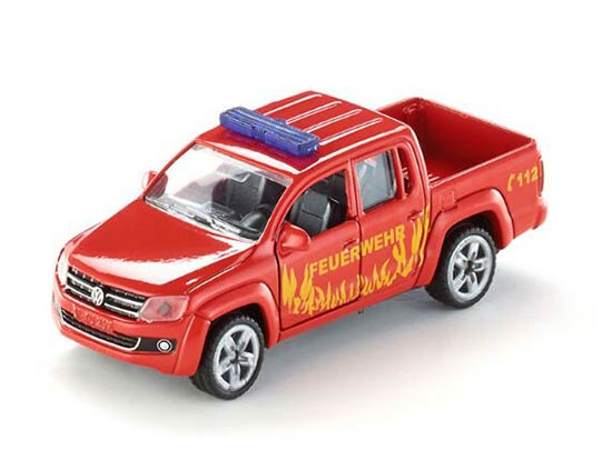 Red Kid Mini SIKU 1467 Diecast VW Fire Fighting Pickup Truck