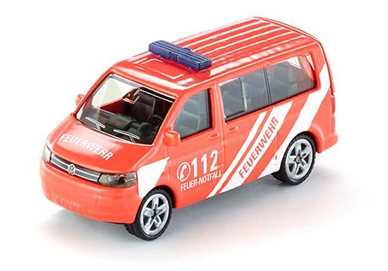 Red Kids Mini Scale SIKU 1460 Fire Fighting Die-Cast VW T5 Toy