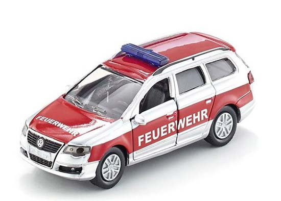 Red Mini Scale SIKU 14 Diecast VW Passat Fire Fighting Car Toy