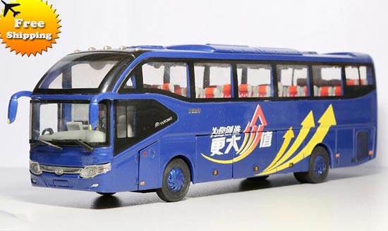 Blue 1:43 Scale Die-Cast YuTong ZK6127H Tour Bus Model