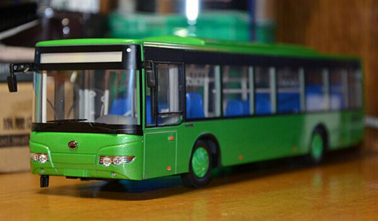 Green 1:43 Scale Die-Cast YuTong ZK6128HG City Bus Model