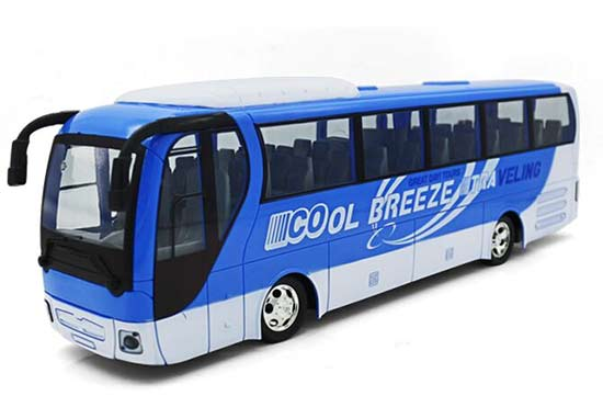 Kids Green / Blue Full Functions Plastics R/C Coach Bus Toy