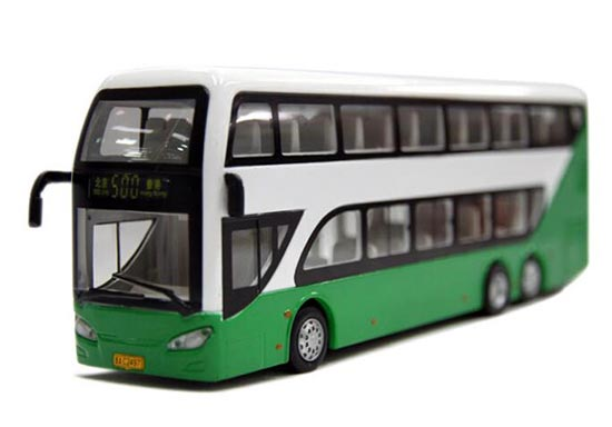Kids Green /White /Red NO.500 Die-Cast BeiJing Double Decker Bus