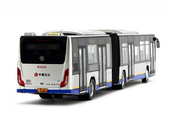 1:64 Scale Yellow-Blue NO.113 Die-Cast BeiJing Articulated Bus