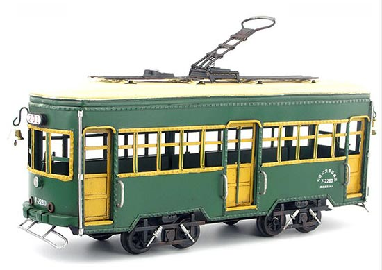 Green Large Scale Tinplate Vintage Tram Model