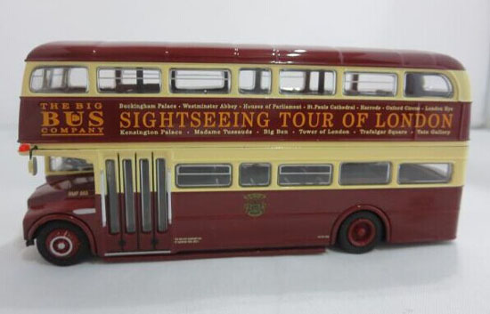 Wine Red 1:76 Scale Die-Cast London Double Decker Bus Model
