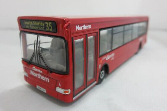 1:76 Scale Red Die-Cast Man Lions Single Decker Bus Model