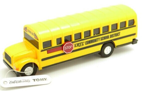 Yellow Kids Mini Scale Die-Cast School Bus Toy