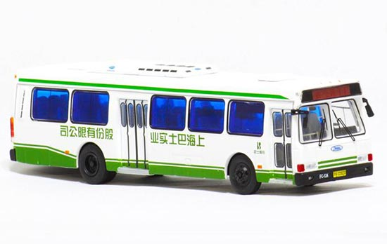 White 1:76 Scale NO.71 Die-Cast FLXIBLE City Bus Model