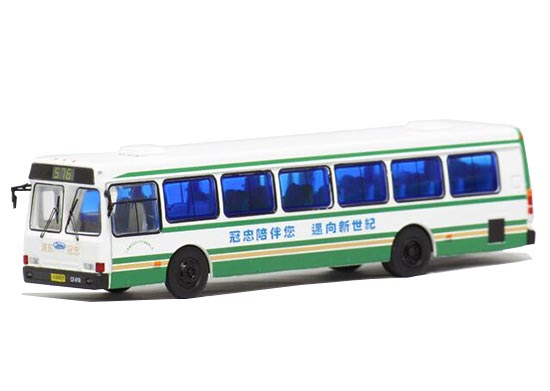 1:76 Scale White Die-Cast NO.576 FLXIBLE City Bus Model