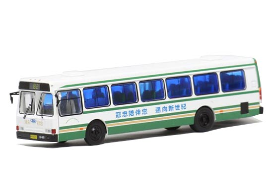 White 1:76 Scale Die-Cast NO.82 FLXIBLE City Bus Model