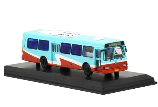 Blue-Red 1:76 Scale Die-Cast NO.946 FLXIBLE City Bus Model