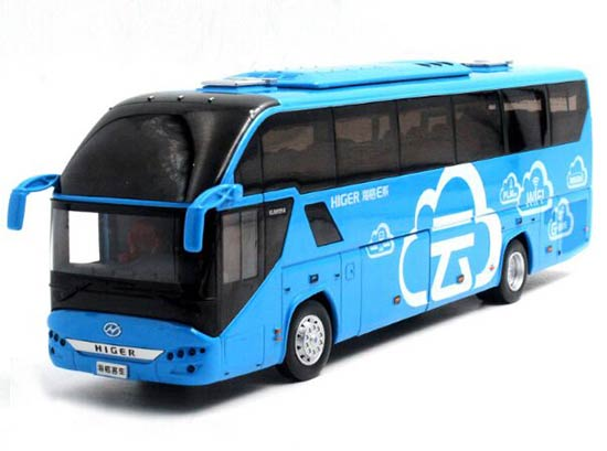 Blue 1:42 Scale Die-Cast HIGER H92 Tour Bus Model