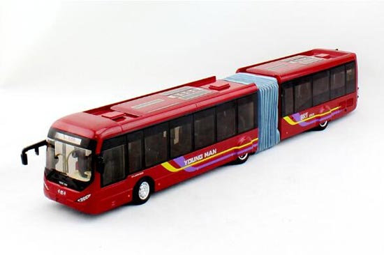 Wine Red 1:42 Scale Die-Cast Young Man BRT Bus Model