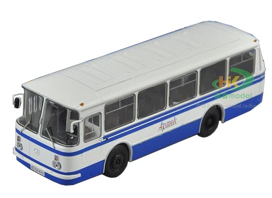 Blue-White 1:43 Scale Die-Cast Soviet Union City Bus Model