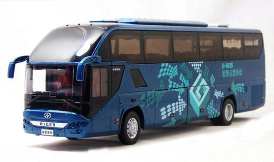 Blue 1:42 Scale Golden Dragon Die-Cast Higer H92 Tour Bus Model