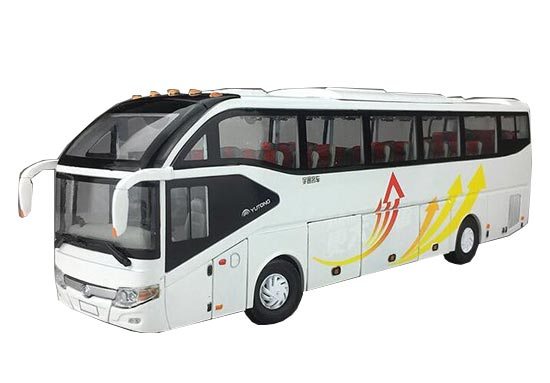 White 1:42 Scale ZK6127H Die-Cast YuTong Bus Model