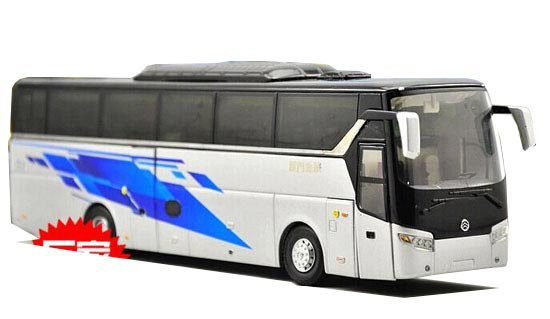 Silver 1:42 Scale Die-Cast Golden Dragon XML 6125 Bus Model