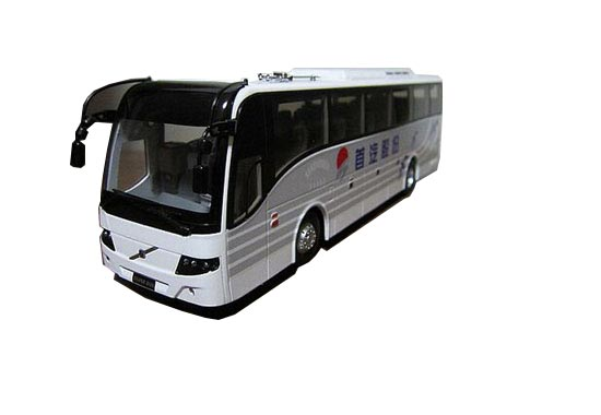 White 1:43 Scale ShouQi Painting Die-Cast VOLVO 9300 Bus Model