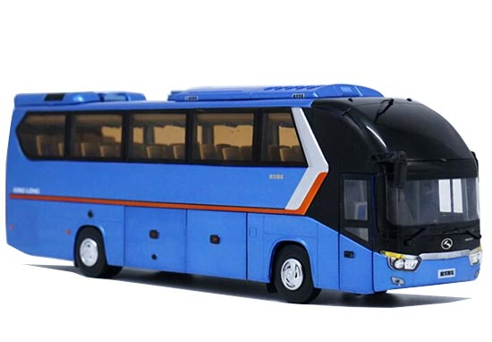 Wine Red / Blue 1:38 Scale Die-Cast King Long Bus Model