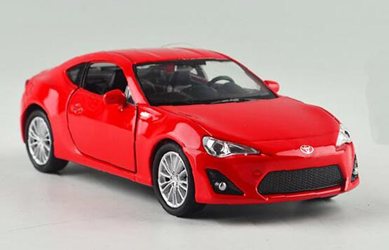 Red Kids 1:36 Pull-Back Function Welly Die-Cast Toyota 86 Toy