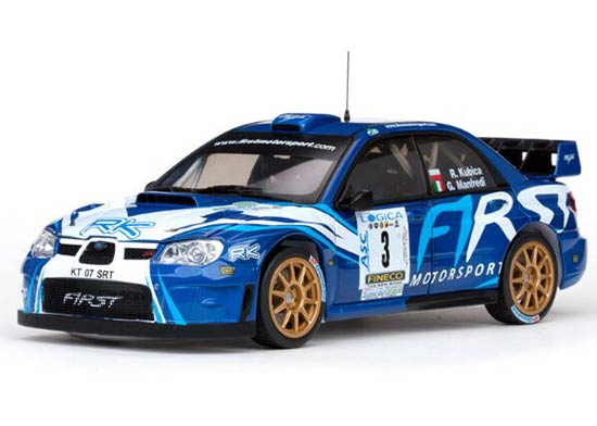 Blue 1:18 Scale Sunstar 2012 WRC Diecast Subaru IMPREZA Model