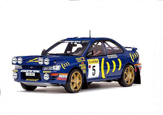 1:18 Scale Blue Sunstar1995 WRC Diecast Subaru IMPREZA Model