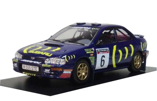 Blue 1:43 Scale Diecast Subaru IMPREZA Model