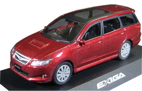 Blue / Red / Silver / White 1:64 Die-Cast Subaru Exiga GT Toy