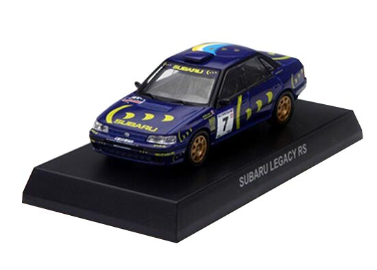 Blue 1:64 Scale KYOSHO Die-Cast Subaru Legacy RS Model