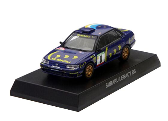Blue 1:64 Scale KYOSHO NO.8 Diecast Subaru Legacy RS Model
